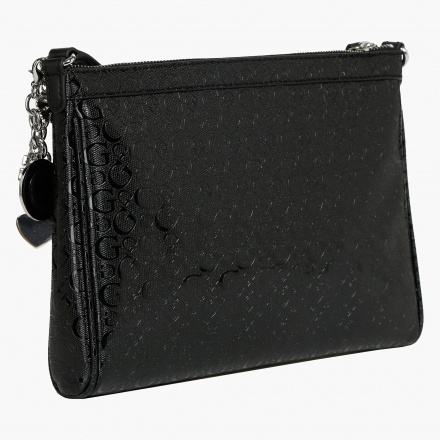 Guess Quilted Signature Print Sling Bag