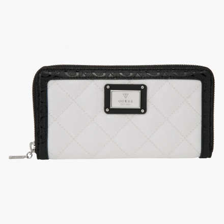 Guess Quilted Zip Around Clutch