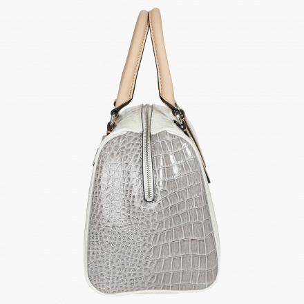 Guess Crocodile-textured Satchel Bag