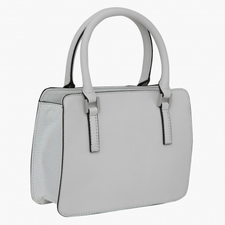 Guess Embossed Tote Bag with Sling Belt