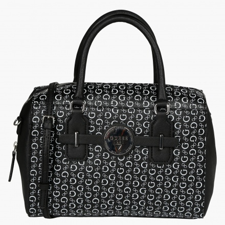 Guess Monogram Print Duffle Bag