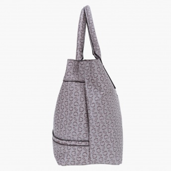 Guess Signature Print Tote Bag
