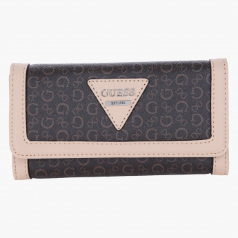 Guess Textured Flap Wallet