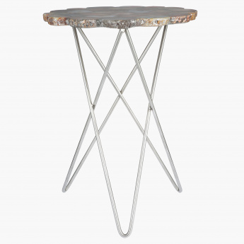 Elite d'Art Cross Agate Table with Natural Edge Top