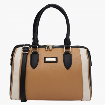 Charlotte Reid Textured Duffle Bag with Zip Closure