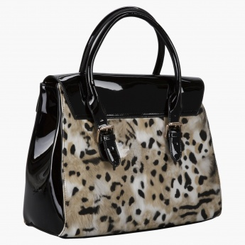 Julia Michael Animal Print Tote Bag And Clutch