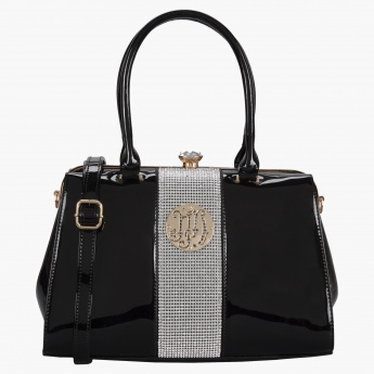 4d7b695c61fa Julia & Michael Crystal Embellished Handbag | Black