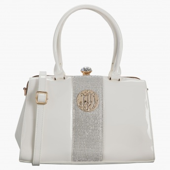 d2c39e62a2b7 Julia & Michael Crystal Embellished Handbag | White