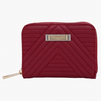 Charlotte Reid Quilted Wallet with Zip Closure