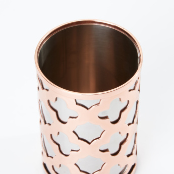 Decorative Tumbler with Cutout Detail