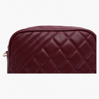 Anna Lou Paris Quilted Crossbody Bag with Zip Detail