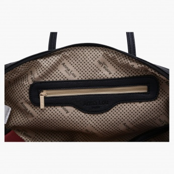 Anna Lou Paris Textured Duffle Bag with Zip Closure