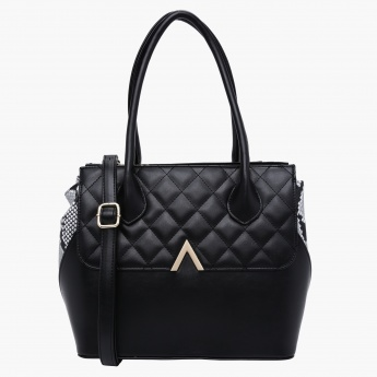 Charlotte Reid Quilted Tote Bag with Dual Handles