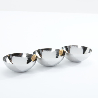 Metallic 3-Piece Sauce Bowl