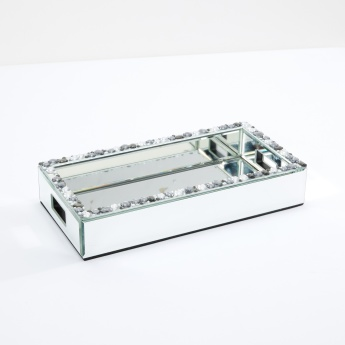 Embellished Mirrored Tray