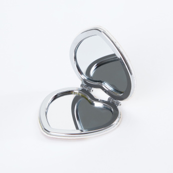 Compact Printed Heart Shaped Mirror