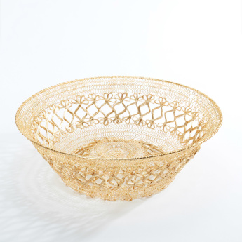 Golden String Decorative Basket