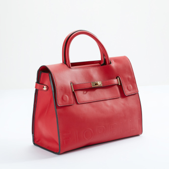 Fiorelli Tote Bag with Flap and Twist Lock
