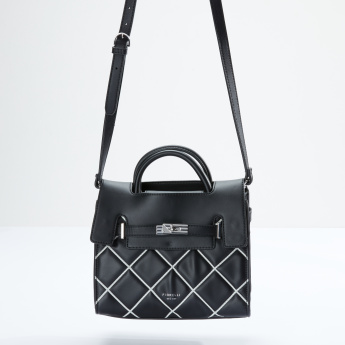 Fiorelli Quilted Satchel Bag with Magnetic Snap Closure