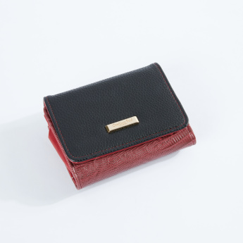 Charlotte Reid Textured Bi-Fold Wallet with Magnetic Snap Closure