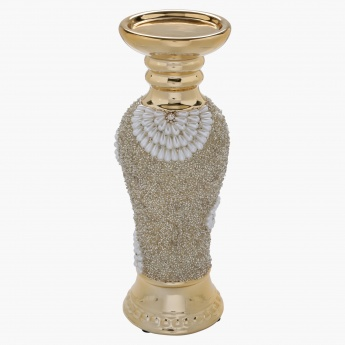 Elite d'Art Pearl Swirl Pillar Candle Holder - 11 cms