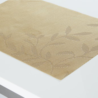 Textured Leaf Rectangular Placemat