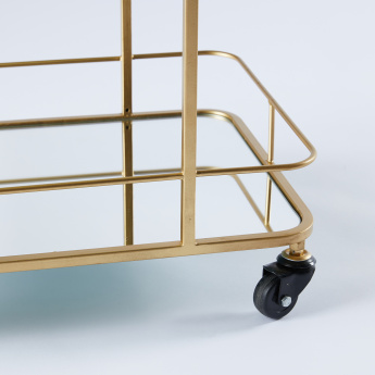 Metallic 4-Tier Bar Trolley