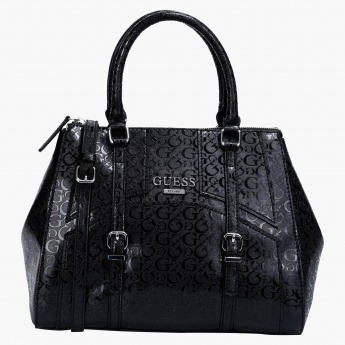 Guess Leisure Signature Satchel Bag