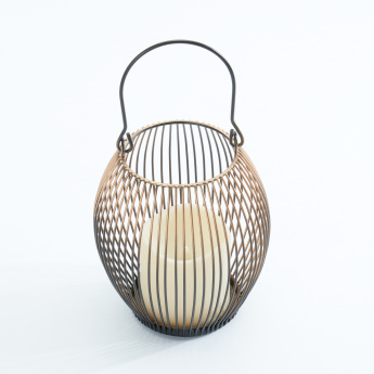 Metallic Wire Lantern with Handle