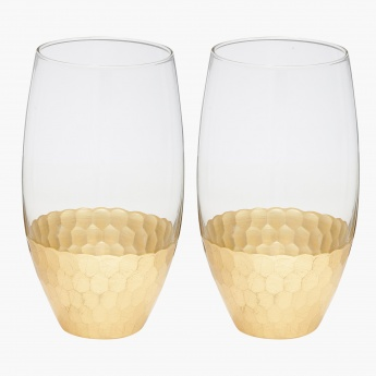 Circle Ware Decorative Glass - Set of 2