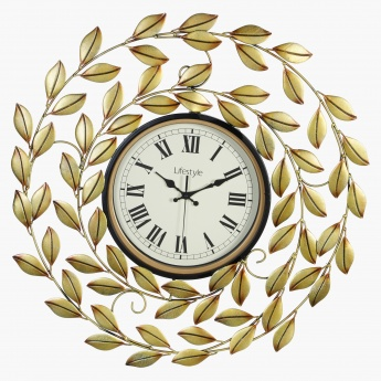 Leaf Design Wall Clock