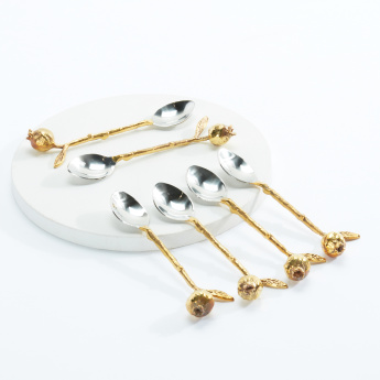 Decorative Pomegranate Spoons - Set of 6