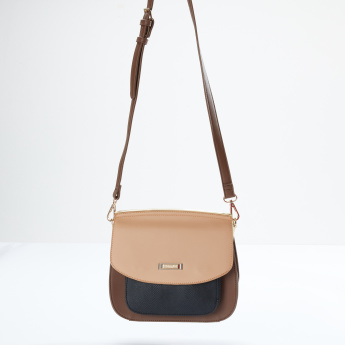Charlotte Reid Textured Satchel Bag with Magnetic Snap Closure