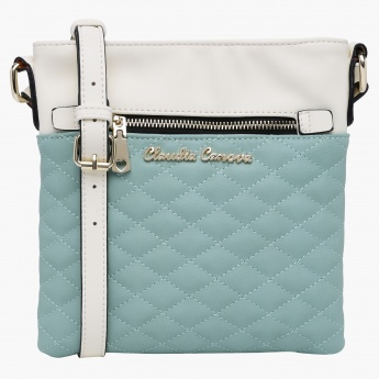 Claudia Canova Quilted Crossbody Bag with Zip Closure