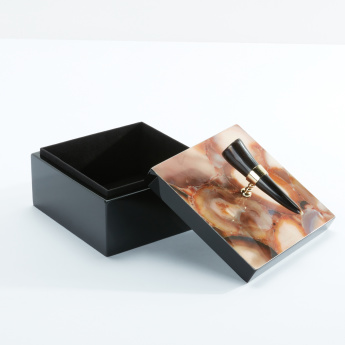 Square Jewelry Box with Decorative Lid