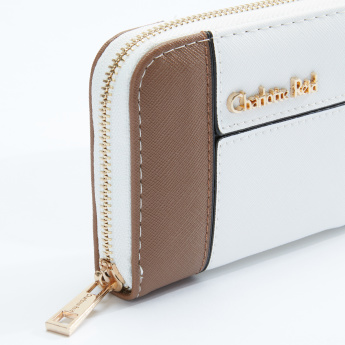 Charlotte Reid Mini Wallet with Contrast Border and Zip Closure