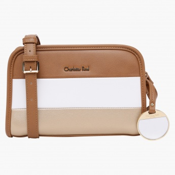 Charlotte Reid Striped Satchel Crossbody Bag
