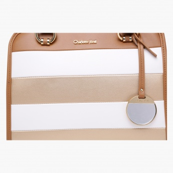 Charlotte Reid Striped Tote Bag