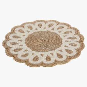 Elite d' Art Twist Beaded Placemat - 36cms