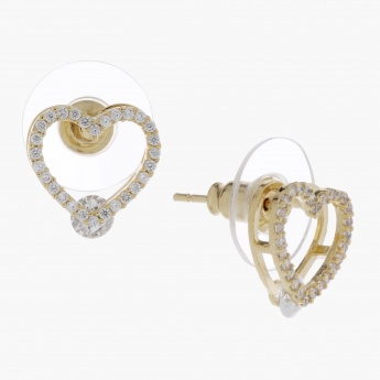 Sasha Studded Heart Earrings