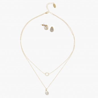 Sasha Multi Chain Necklace and Earring Set