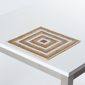 Pyrite Embellished Beaded Square Placemat