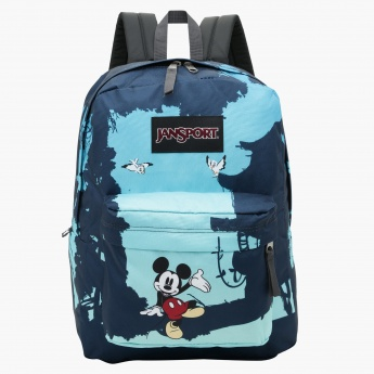 7aee291573 Jansport Mickey Mouse Printed Backpack with Zip Closure
