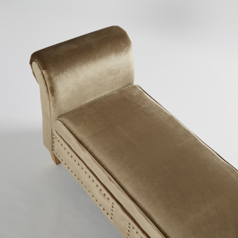 Adrian Studded Bench with Rolled Arms