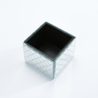 Square Storage Box with Trellis Print