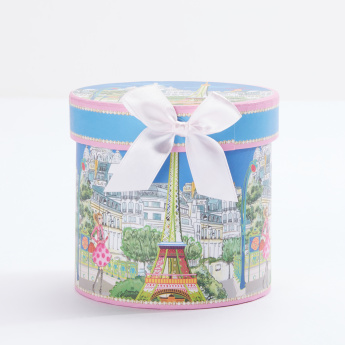 Eiffel Tower Printed Coffee Mug with Decorative Tassel