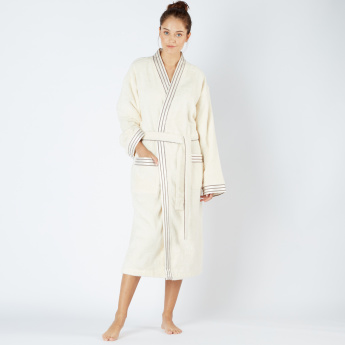Textured Bathrobe with Pocket Detail