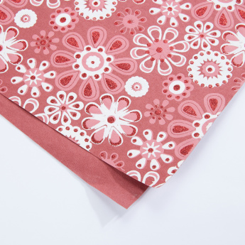 Flower Printed Handmade Wrapping Paper