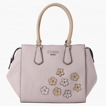 Guess Tote Handbag with Flower Appliques