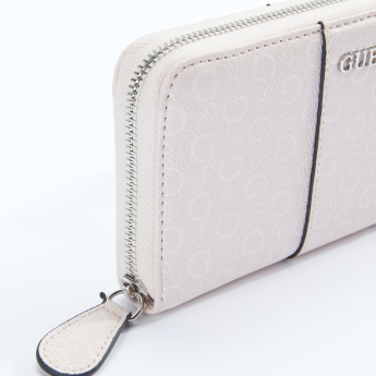 Guess Printed Wallet with Zip Closure